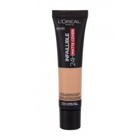 L´Oréal Paris Infallible 24H Matte Cover Podkład 30ml 290 Golden Amber