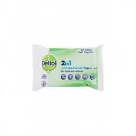 Dettol Antibacterial 2in1 Antybakteryjne kosmetyki 15szt