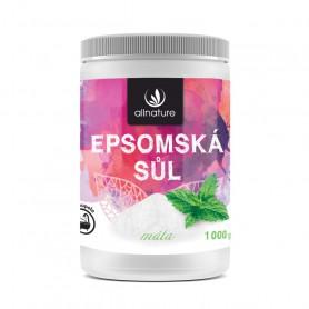 Allnature Epsom Salt Mint Sól do kąpieli 1000g