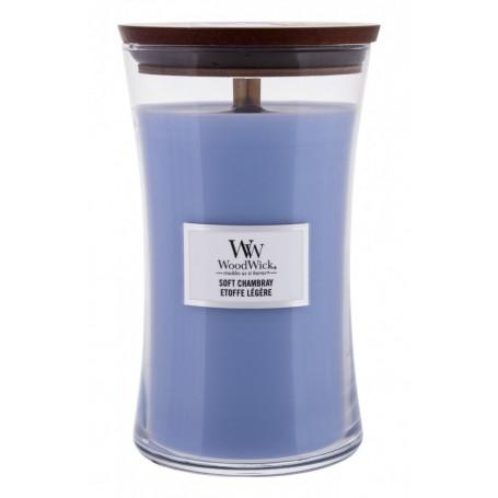 WoodWick Soft Chambray Świeczka zapachowa 610g