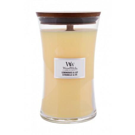 WoodWick Lemongrass & Lily Świeczka zapachowa 610g