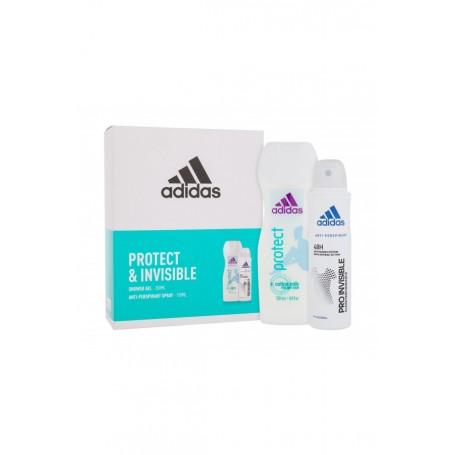 Adidas Protect & Invisible Żel pod prysznic 250ml zestaw upominkowy