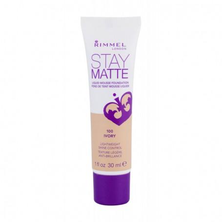 Rimmel London Stay Matte Liquid Mousse Foundation Podkład 30ml 100 Ivory