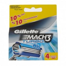Gillette Mach3 Turbo Wkład do maszynki 4szt