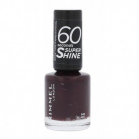 Rimmel London 60 Seconds Super Shine Lakier do paznokci 8ml 345 Black Cherries