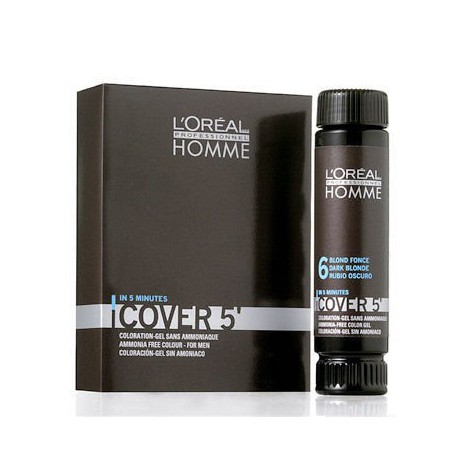 L´Oréal Professionnel Homme Cover 5´ Farba do włosów 3x50ml 7 Medium Blond