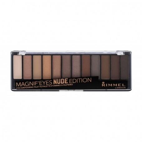 Rimmel London Magnif Eyes Contouring Palette Cienie do powiek 14,16g 001 Nude Edition