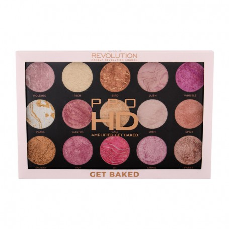 Makeup Revolution London Pro HD Amplified Palette Rozświetlacz 37,5g Get Baked