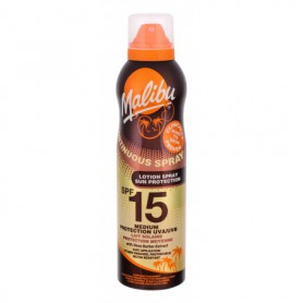 Malibu Continuous Spray SPF15 Preparat do opalania ciała 175ml