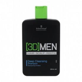 Schwarzkopf 3DMEN Deep Cleansing Szampon do włosów 250ml