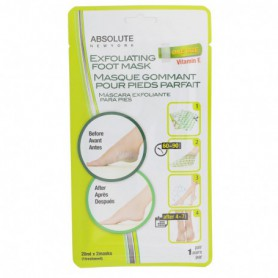 Absolute New York Exfoliating Foot Mask Krem do stóp 2x20ml
