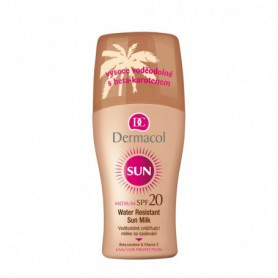 Dermacol Sun Milk Spray SPF20 Preparat do opalania ciała 200ml