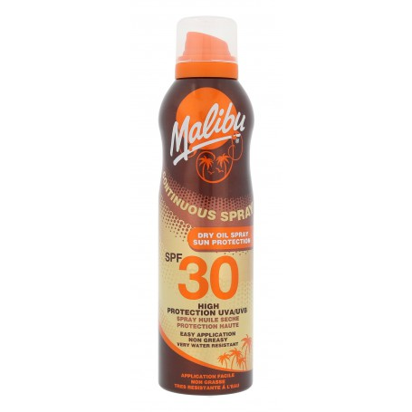 Malibu Continuous Spray Dry Oil SPF30 Preparat do opalania ciała 175ml