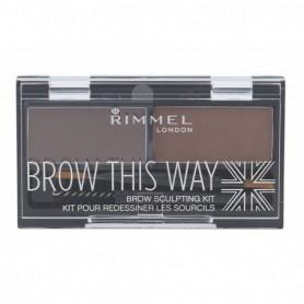 Rimmel London Brow This Way Regulacja brwi 2,4g 002 Medium Brown