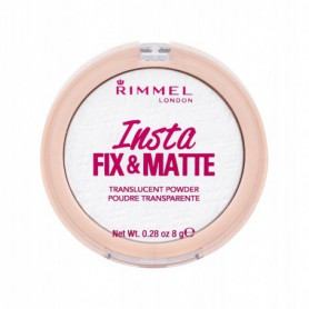Rimmel London Insta Fix & Matte Puder 8g 001 Translucent