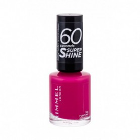 Rimmel London 60 Seconds Super Shine Lakier do paznokci 8ml 323 Funtime Fuchsia