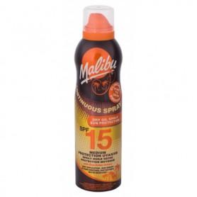 Malibu Continuous Spray Dry Oil SPF15 Preparat do opalania ciała 175ml