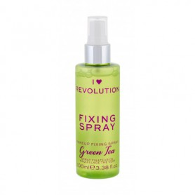 Makeup Revolution London I Heart Revolution Fixing Spray Green Tea Utrwalacz makijażu 100ml