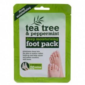 Xpel Tea Tree Tea Tree & Peppermint Deep Moisturising Foot Pack Krem do stóp 1szt
