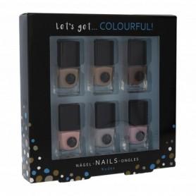 2K Let´s Get Colourful! Nudes Lakier do paznokci 5ml zestaw upominkowy