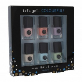 2K Let´s Get Colourful! Pastels Lakier do paznokci 5ml zestaw upominkowy