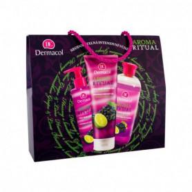 Dermacol Aroma Ritual Grape & Lime Pianka do kąpieli 500ml zestaw upominkowy