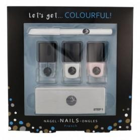 2K Let´s Get Colourful! Lakier do paznokci 5ml zestaw upominkowy
