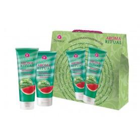 Dermacol Aroma Ritual Fresh Watermelon Żel pod prysznic 250ml zestaw upominkowy