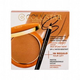 Collistar Tanning Compact Cream SPF6 Puder 9g 4 Caribbean zestaw upominkowy