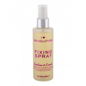 Makeup Revolution London I Heart Revolution Fixing Spray Cookies & Cream Utrwalacz makijażu 100ml