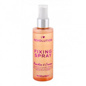 Makeup Revolution London I Heart Revolution Fixing Spray Peaches & Cream Utrwalacz makijażu 100ml