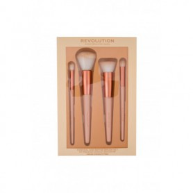 Makeup Revolution London Conceal & Define Pędzel do makijażu 4szt zestaw upominkowy