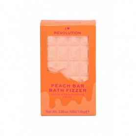 Makeup Revolution London I Heart Revolution Chocolate Bar Bath Fizzer Pianka do kąpieli 110g Peach