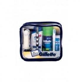 Gillette Mach3 Travel Kit Maszynka do golenia 1szt zestaw upominkowy
