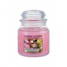 Yankee Candle Fresh Cut Roses Świeczka zapachowa 411g