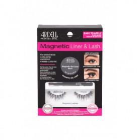 Ardell Magnetic Liner & Lash Wispies Sztuczne rzęsy 1szt Black zestaw upominkowy