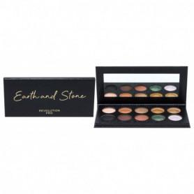 Makeup Revolution London Revolution PRO Colour Focus Shadow Palette Cienie do powiek 15g Earth & Stone
