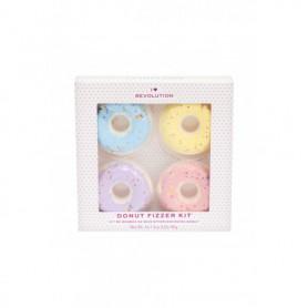 Makeup Revolution London I Heart Revolution Donut Fizzer Pianka do kąpieli 40g Blueberry zestaw upominkowy