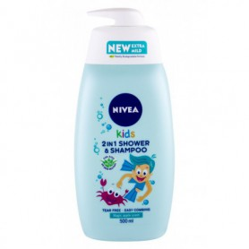 Nivea Kids 2in1 Shower & Shampoo Magic Apple Scent Żel pod prysznic 500ml