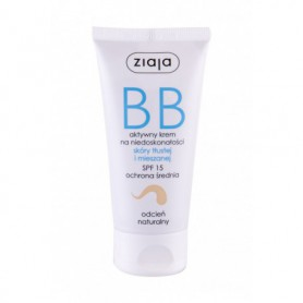 Ziaja BB Cream Oily and Mixed Skin SPF15 Krem BB 50ml Natural