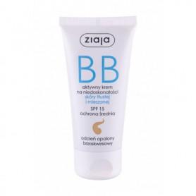Ziaja BB Cream Oily and Mixed Skin SPF15 Krem BB 50ml Dark