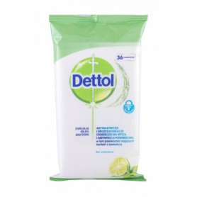 Dettol Antibacterial Cleansing Surface Wipes Lime & Mint Antybakteryjne kosmetyki 36szt