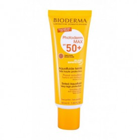 BIODERMA Photoderm Max Tinted Aquafluid SPF50  Preparat do opalania twarzy 40ml Golden Colour