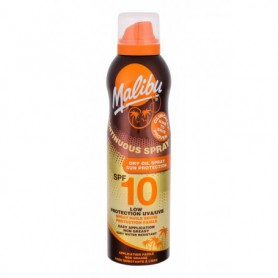 Malibu Continuous Spray Dry Oil SPF10 Preparat do opalania ciała 175ml