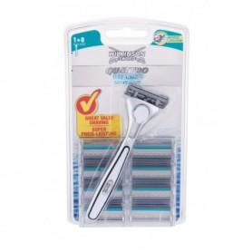 Wilkinson Sword Quattro Titanium Sensitive Maszynka do golenia 1szt zestaw upominkowy