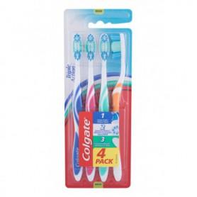 Colgate Triple Action Medium Szczoteczka do zębów 4szt