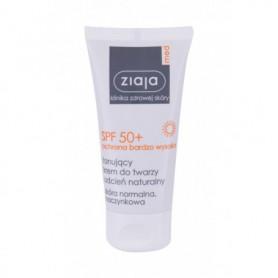 Ziaja Med Protective Tinted SPF50  Preparat do opalania twarzy 50ml Natural