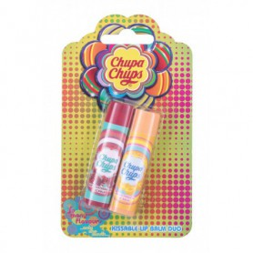 Chupa Chups Lip Balm Kissable Lip Balm Duo Balsam do ust 4g Juicy Watermelon zestaw upominkowy